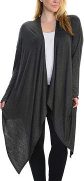 Bellino Charcoal Sidetail Open Cardigan - Plus