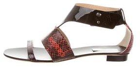 Reed Krakoff Snakeskin Ankle Strap Sandals