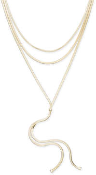 Thalia Sodi Gold-Tone Layered Lariat Necklace, 16 + 3 extender, Created for Macy's
