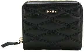 DKNY quilted pinstripe carryall wallet