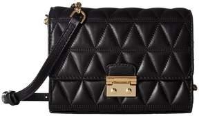 MICHAEL Michael Kors Ruby Medium Clutch Clutch Handbags - BLACK - STYLE