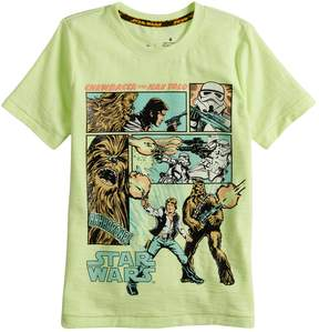 Star Wars A Collection For Kohls Boys 4-7x a Collection for Kohl's Hans Solo and Chewie Tee