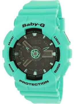 Casio Women's Baby-G BA111-3A Aqua Rubber Quartz Watch