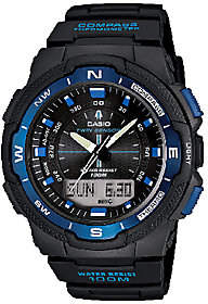 Casio Men's Twin Sensor Analog-Digital Blue Accented Watch
