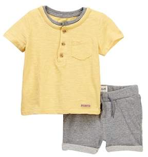 Hudson Cotton Slub Jersey Tee with French Terry Shorts (Baby Boys)