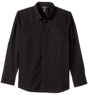 Volcom Oxford Stretch Long Sleeve Boy's Long Sleeve Button Up