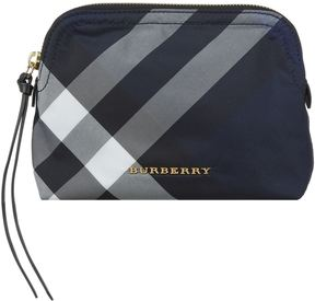 Burberry Check Pouch - BLUE - STYLE