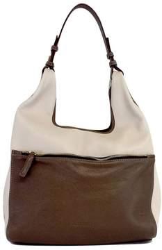 Jil Sander Taupe & Brown Leather Tote Bag