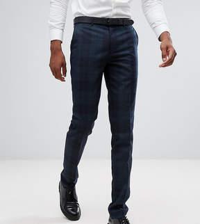 Farah Smart TALL Skinny Suit Pants In Check