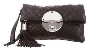 Calvin Klein Quilted Leather Tassel Clutch