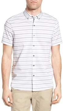 Michael Bastian Spread Collar Trim Fit Sport Shirt