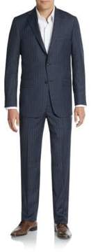 Hickey Freeman Regular-Fit Striped Worsted Wool Suit