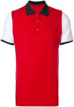 Kiton colour block polo shirt