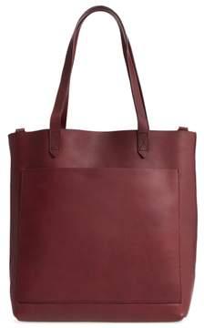 Madewell Medium Leather Transport Tote - Burgundy
