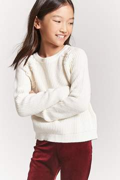 Forever 21 Girls Lace-Up Sweater (Kids)