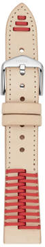 Fossil 18mm Two-Tone Leather Watch Strap