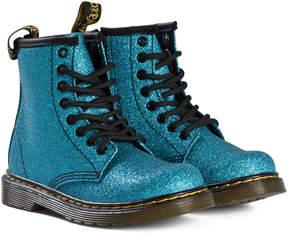 Dr. Martens Laser Blue Glitter Delaney Boots
