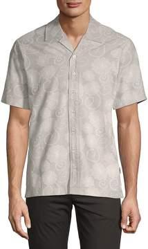 Publish Men's Coen Short-Sleeve Cotton Button-Down Shirt