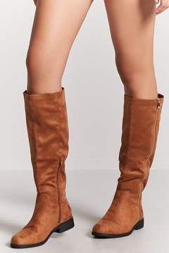 Forever 21 Faux Suede Tall Boots