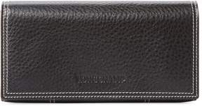 Longchamp Women's Grained Leather Continental Wallet - BLACK - STYLE