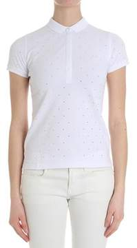 Sun 68 Women's White Cotton Polo Shirt.