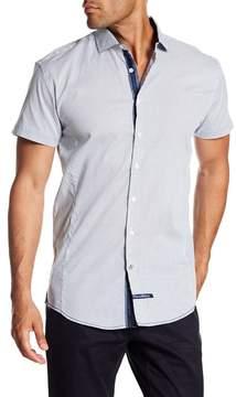 English Laundry Check Print Classic Fit Short Sleeve Shirt