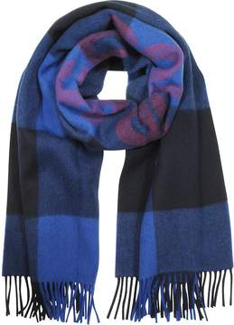 MAISON KITSUNÉ Dark Navy Wool Blend Courage Scarf