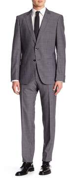 HUGO BOSS Genuis Pinstripe Notch Collar Flat Front Pants 2-Piece Suit