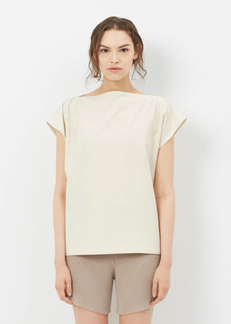 Base Range Baserange Off White Shankar Top