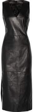 Drome Leather Midi Dress