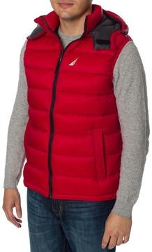 Nautica Ultra Light Detachable Hood Down Puffer Vest