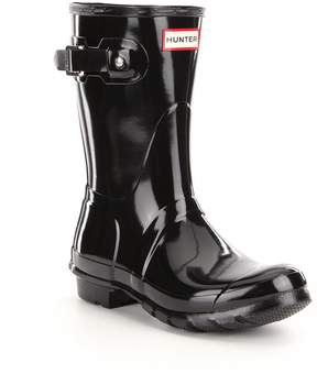 Hunter Women's Original Short Gloss Buckle Strap Rain Boots