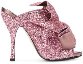 No.21 glitter effect sandals