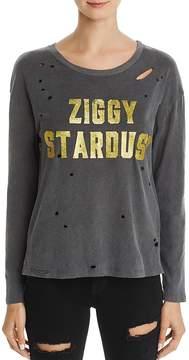 Daydreamer Ziggy Stardust Distressed Glitter Tee