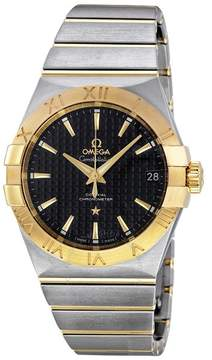 Omega Constellation Black Dial Stainless Steel and Yellow Gold Men's Watch