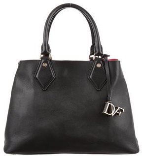 Diane von Furstenberg Pebbled Leather Satchel
