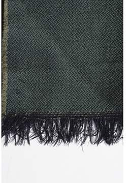 Saint Laurent Pre-owned Vintage Brown Blue Woven Striped Scarf.