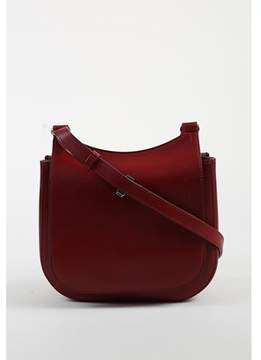 The Row Pre-owned brick Red Calf Leather hunting 9 Flap Bag.