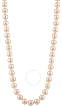 Bella Pearl Single Strand Pink Freshwater Pearl 18 Necklace