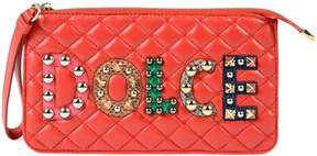 Dolce & Gabbana Logo Clutch - PINK & PURPLE - STYLE