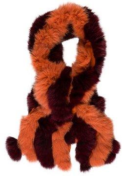 Etro Fox & Silk Scarf