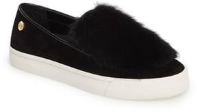Louise et Cie Women's Bershner Genuine Rabbit Fur Slip-On Sneaker
