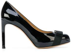 Salvatore Ferragamo stiletto bow plaque pumps