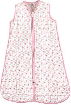 Hudson Baby White & Pink Sheep Sleeping Bag