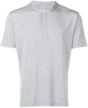 Eleventy buttoned crew neck T-shirt