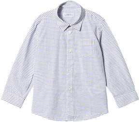 Mayoral Blue Stripe Long Sleeve Shirt