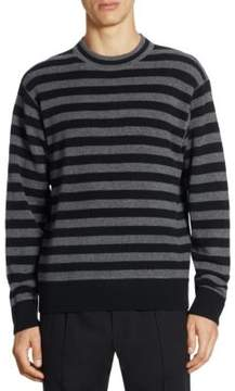 Alexander Wang Slim-Fit Heathered Strip Sweater