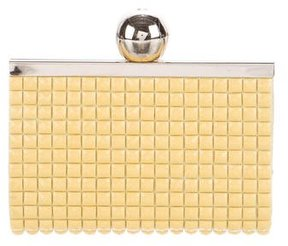 Kate Spade Structured Push-Lock Clutch - YELLOW - STYLE