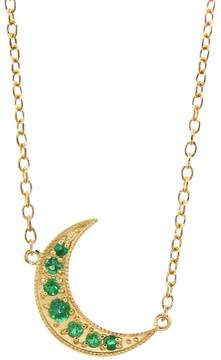 Andrea Fohrman Emerald Crescent Moon Necklace