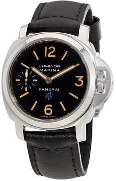 Panerai Luminor Marina Black Dial Men's Hand Wound Watch